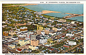 Aerial View Of Business And Water Front St Petersburg Fl P26654