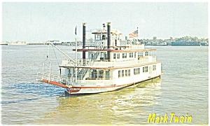 MV  Mark Twain New Orleans LA Postcard p2667 (Image1)