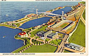 Aeroplane View of Fair Grounds A Century of Progress p26682 (Image1)