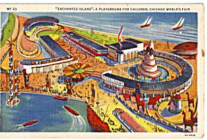 Enchanted Island A Century of Progress Postcard  p26683 (Image1)