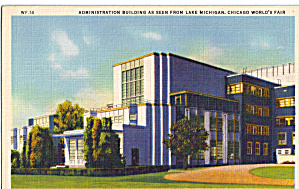 Administration Building A Century Of Progress Postcard P26687