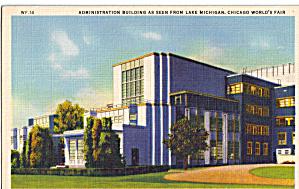 Administration Building A Century of Progress Postcard p26687 (Image1)