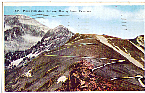 Pikes Peak Co Auto Highway Showing Seven Elevations P26750