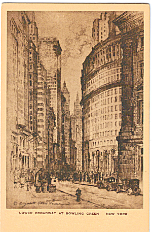 Lower Broadway at Bowling Green, New York City (Image1)