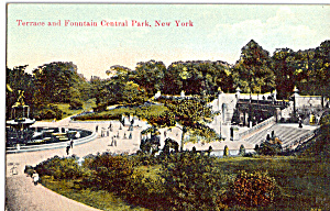 Terrace and Fountain, Central Park New York City (Image1)