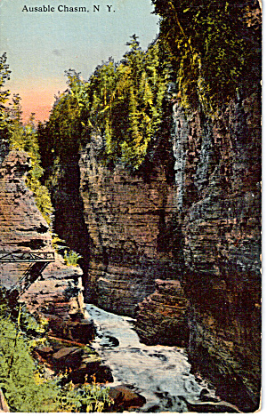 Ausable Chasm New York Postcard P26791