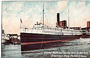Steamer North Star Leaving Dock for New York p26804 (Image1)