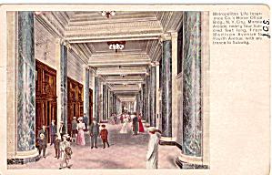 Interior of Metropolitan Life Building New York City p26818 1907 (Image1)