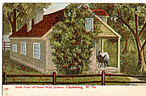 Birthplace Of Stone Wall Jackson Clarksburg Wv Postcard P26861