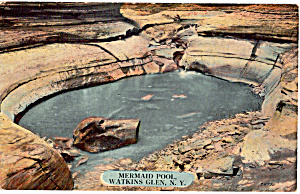 Mermaid Pool  WatkinS Glen New York Postcard p26887 (Image1)