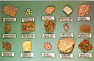 Minerals Found in North Carolina Postcard p26926 (Image1)