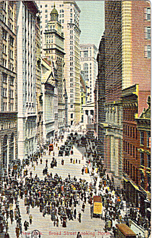 Broad Street Looking North, New York City (Image1)