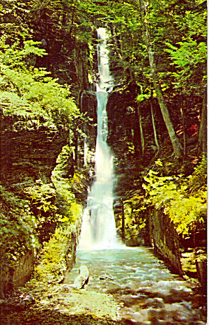 Silver Thread Falls Dingmans Ferry Pa Postcard P26949