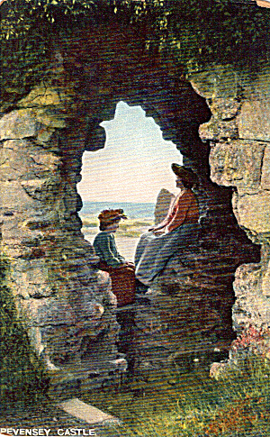 Pevensey Castle Sussex England Postcard P26990