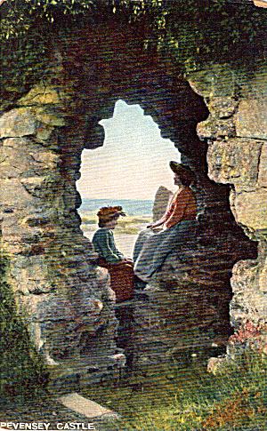 Pevensey Castle Sussex England  Postcard p26990 (Image1)