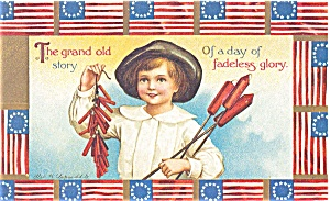 July 4th The Grand Old Story  Postcard p2701 (Image1)