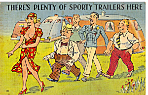 There S Plenty Of Sporty Trailers Here Postcard P27087