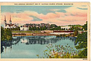 Gonzaga University and St Aloysius Church  Spokane WA p27099 (Image1)