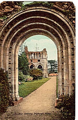 The West Doorway Dryburgh Abbey Scotland p27120 (Image1)