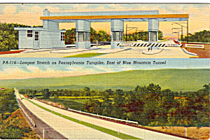 Longest Straight Stretch of PA Turnpike (Image1)