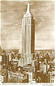 Empire State Building New York City Postcard  p2713 (Image1)