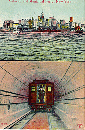 Subway and Municipal Ferry, New York City (Image1)