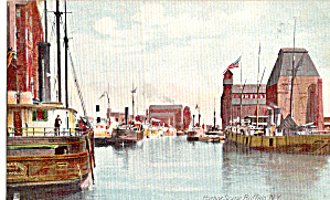 Harbor Scene Buffalo New York P27259