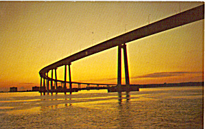 San Diego Coronado Bridge Night View (Image1)