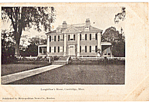 Longfellow S Home Cambridge Massachusetts P27267