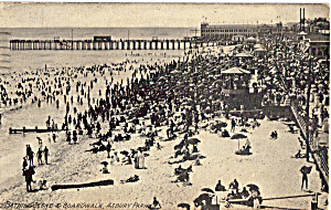 Bathing Scene And Boardwalk Asbury Park Nj P27273