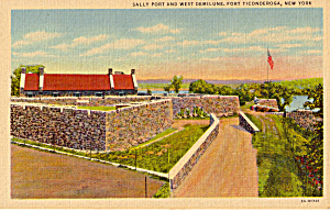 Sally Port and West Demilune Fort Ticonderoga NY p27299 (Image1)