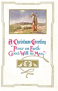 Peace on Earth Christmas Postcard (Image1)