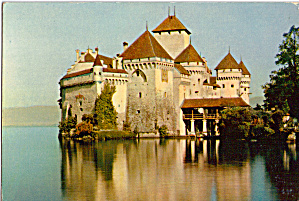 Lake Geneva Castle of Chillon Postcard p27440 (Image1)