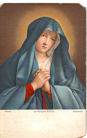 La Vergine Afflitta by Sassoferrato Postcard p27507 (Image1)