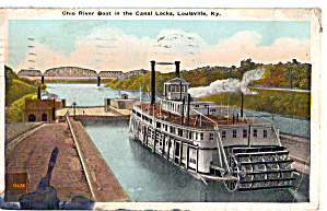 Ohio River Boat in the Canal Locks Lousville Kentucky p27518 (Image1)