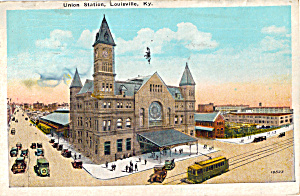 Union Station in Louisville KY Postcard p27522 (Image1)