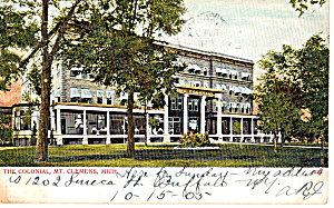 The Colonial Mt Clemens Michigan Postcard p27584 (Image1)
