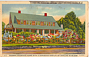 Mountain Home with Display of Dahlias in Bloom (Image1)