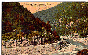 Entering Gorge Nolachucky River on Clinchfield Route p27594 (Image1)