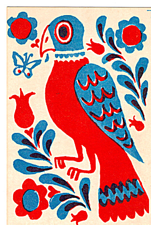 Carolina Parrot a Favorite Dutch Fraktur Design Postcard p27597 (Image1)