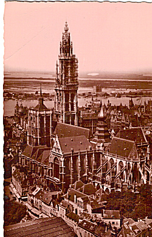 Cathedral and Panorama Antwerp Belgium p27609 (Image1)