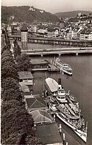 Boat at Pier  Lucerne  Switzerland p27612 (Image1)
