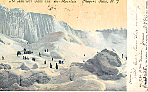 American Falls And Ice Mountain Postcard P27619