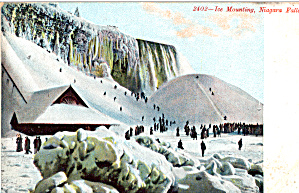Ice Mountain Niagara Falls Postcard P27625