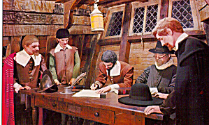 Mayflower II Signing of the Mayflower Compact p27645 (Image1)