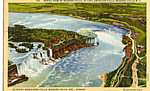 Aerial View of Niagara Falls Postcard p27657 (Image1)