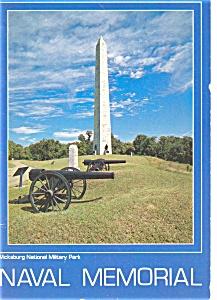 Naval Memorial Vicksburg MS Postcard (Image1)