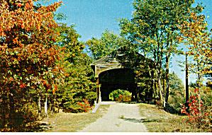 Hemlock Bridge Frysburg Maine Postcard p27665 (Image1)