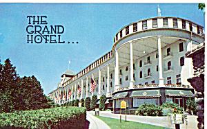 The Grand Hotel Mackinac Island Michigan Postcard p27673 (Image1)