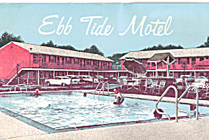 Ebb Tide Motel Somers Point New Jersey Cars 50s P27708